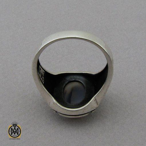 انگشتر عقیق شجر مردانه - کد 10852