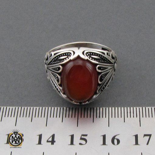 انگشتر عقیق قرمز مردانه