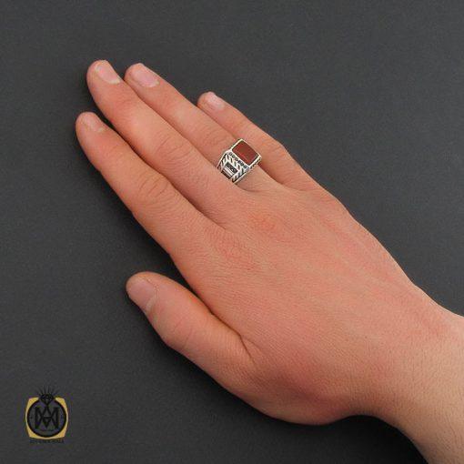 انگشتر عقیق قرمز مردانه- کد ۱۰۸۴۲