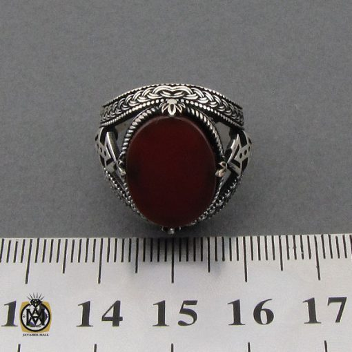 انگشتر عقیق قرمز مردانه خوش رنگ – کد ۱۰۸۴۰