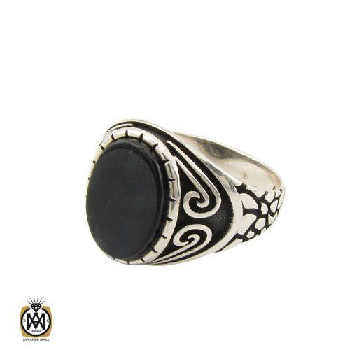 انگشتر عقیق مشکی مردانه- کد 10806 - انگشتر عقیق مشکی مردانه 2 510x510