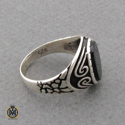 انگشتر عقیق مشکی مردانه- کد 10806 - انگشتر عقیق مشکی مردانه 3 510x510