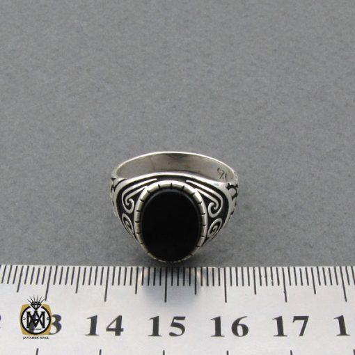 انگشتر عقیق مشکی مردانه- کد 10806 - انگشتر عقیق مشکی مردانه 5 510x510
