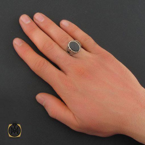 انگشتر عقیق مشکی مردانه- کد 10806 - انگشتر عقیق مشکی مردانه 6 510x510