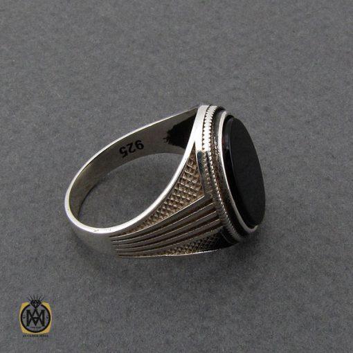 انگشتر عقیق مشکی مردانه- کد ۱۰۸۰۴