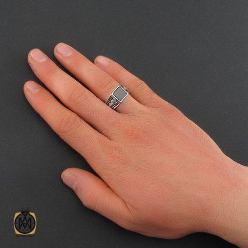 انگشتر عقیق مشکی مردانه – کد ۱۰۸۰۵