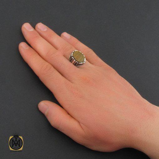 انگشتر چشم ببر مردانه خوش رنگ و معدنی – کد ۱۰۸۲۳
