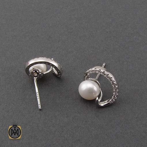 گوشواره مروارید طرح پیچک زنانه – کد ۵۰۴۸