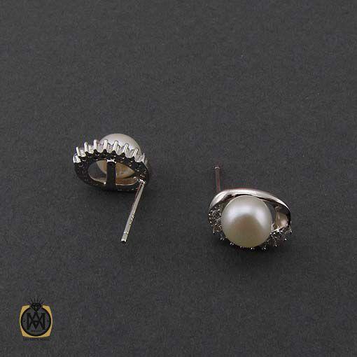 گوشواره مروارید طرح پرگل زنانه – کد ۵۰۴۶