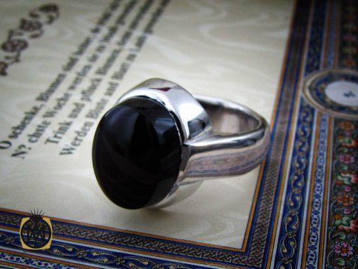 انگشتر عقیق جزع یمن مردانه دست ساز - کد 10749 - 00 103 510x383
