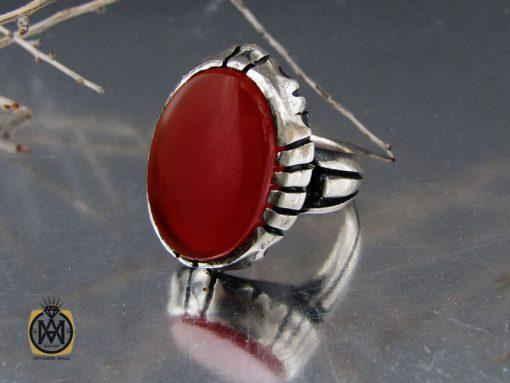 انگشتر عقیق قرمز مردانه – کد 10777 - 00 129 510x383