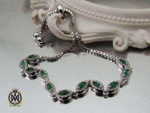 دستبند زمرد طرح سوگند زنانه -کد 1097 - 00 146 510x383