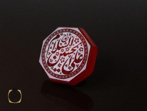نگین عقیق یمن با حکاکی السلام علی الحسین هنر دست استاد احمد - کد 9081 - 00 38 510x383