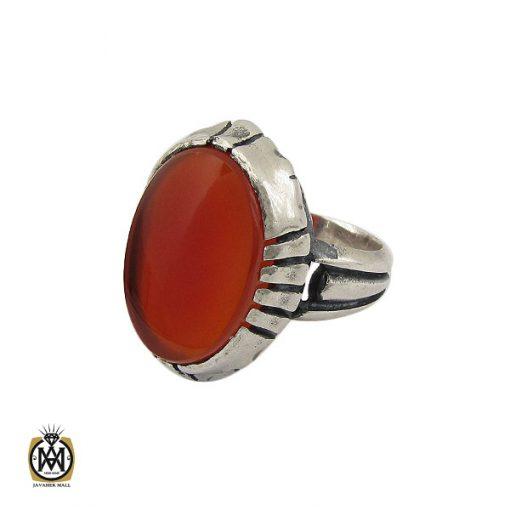 انگشتر عقیق قرمز مردانه – کد 10777 - 1 117 510x510