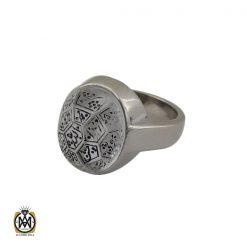 انگشتر در نجف با حکاکی الله و چهارده معصوم مردانه دست ساز – کد 10784 - 1 124 247x247