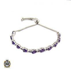 دستبند آمتیست زنانه اصل و معدنی طرح ویدا - کد 1210 - 1 126 247x247