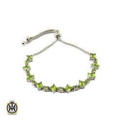 دستبند زبرجد زنانه طرح فلورا - کد 1175 - 1 127 247x247