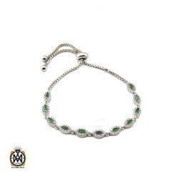 دستبند زمرد معدنی طرح خاطره زنانه - کد 1093 - 1 129 247x247