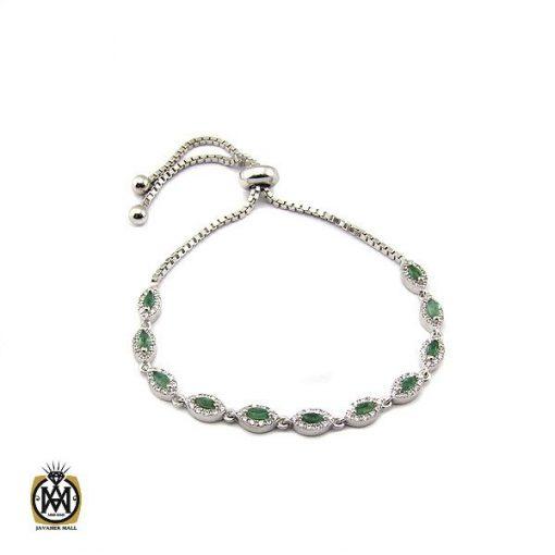 دستبند زمرد طرح سوگند زنانه -کد 1097 - 1 129 510x510