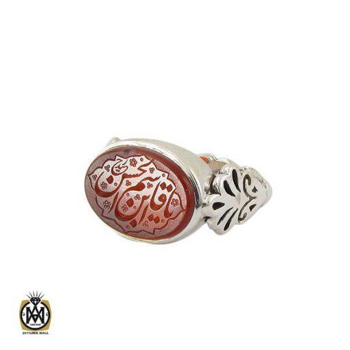 انگشتر عقیق یمن با حکاکی یا قاسم ابن الحسن مردانه دست ساز – کد ۱۰۷۹۸