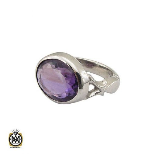 انگشتر آمتیست خوش رنگ مردانه دست ساز - کد 10693 - 1 35 510x510