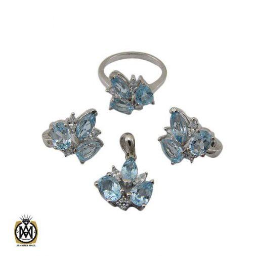 سرویس توپاز آبی طرح بهارین زنانه -کد 7230 - 1 6 510x510