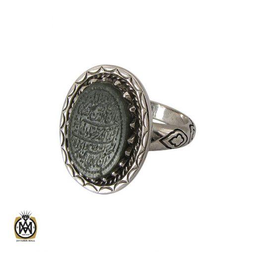 انگشتر یشم با حکاکی وان یکاد مردانه - کد 10728 - 1 71 510x510
