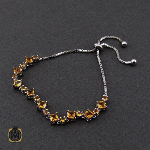 دستبند سیترین طرح روناک زنانه -کد 1095