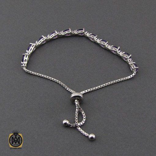 دستبند آمتیست طرح ژالین زنانه - کد 1096 - 2 126 510x510