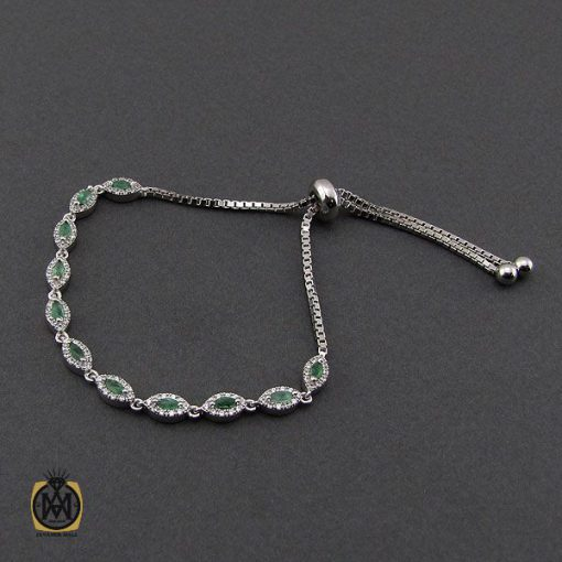 دستبند زمرد طرح سوگند زنانه -کد 1097 - 2 129 510x510