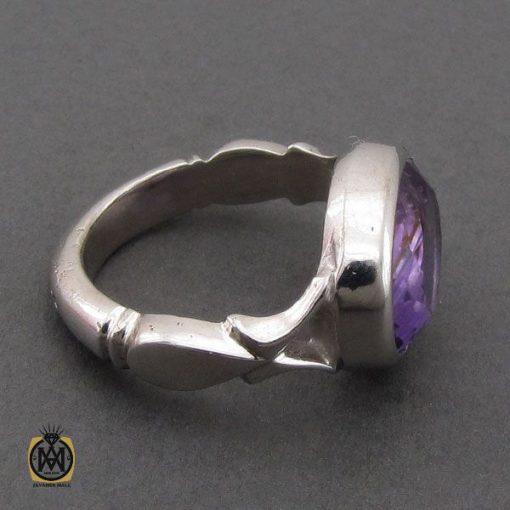 انگشتر آمتیست خوش رنگ مردانه دست ساز - کد 10693 - 2 32 510x510
