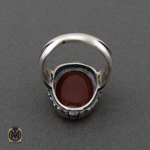 انگشتر عقیق قرمز مردانه – کد 10777 - 3 118 510x510