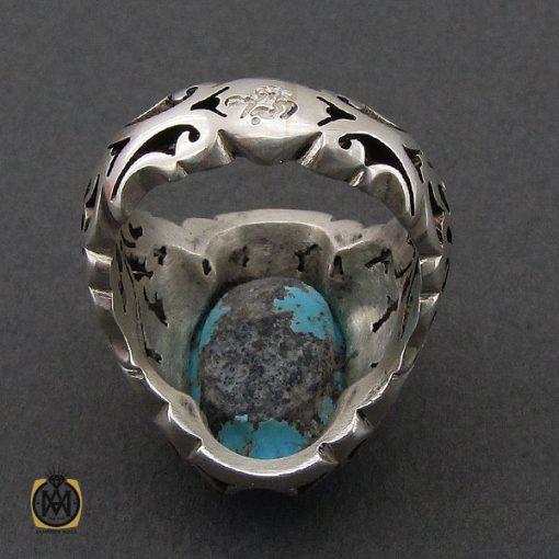 انگشتر فیروزه نیشابوری درشت و خوش رنگ مردانه - کد 10691 - 3 33 510x510