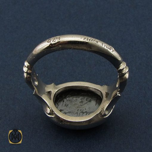 انگشتر حدید صینی با حکاکی هفت جلاله مردانه دست ساز - کد 10692 - 3 34 510x510