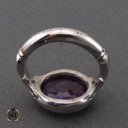 انگشتر آمتیست خوش رنگ مردانه دست ساز - کد 10693 - 3 35 510x510