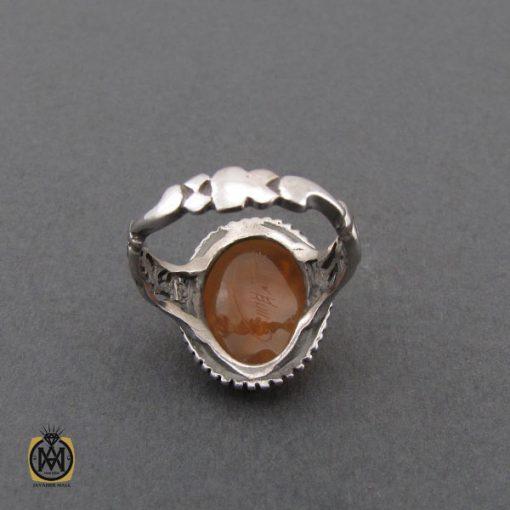 انگشتر عقیق یمن با حکاکی شرف الشمس و یا امیرالمومنین حیدر مدد مردانه - کد 10744 - 3 87 510x510