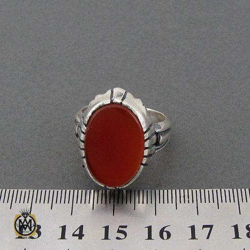 انگشتر عقیق قرمز مردانه – کد 10777 - 4 107 510x510