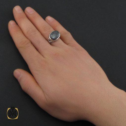 انگشتر حدید صینی با حکاکی هفت جلاله مردانه دست ساز - کد 10692 - 5 15 510x510