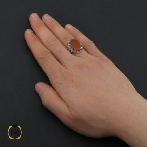انگشتر عقیق یمن با حکاکی یا ابا القاسم یا رسول الله مردانه - کد 10710 - 5 32 510x510