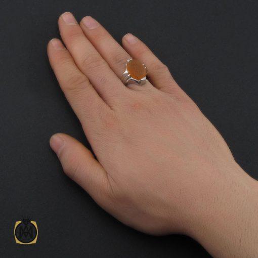 انگشتر عقیق یمن با حکاکی یا خدیجه الکبری مردانه - کد 10719 - 5 41 510x510