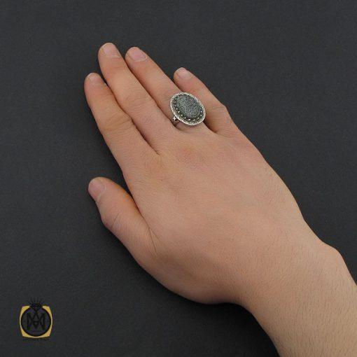 انگشتر یشم با حکاکی وان یکاد مردانه - کد 10728 - 5 51 510x510