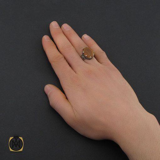 انگشتر عقیق یمن با حکاکی شرف الشمس و ان الحسین مصباح الهدی مردانه – کد ۱۰۷۳۱