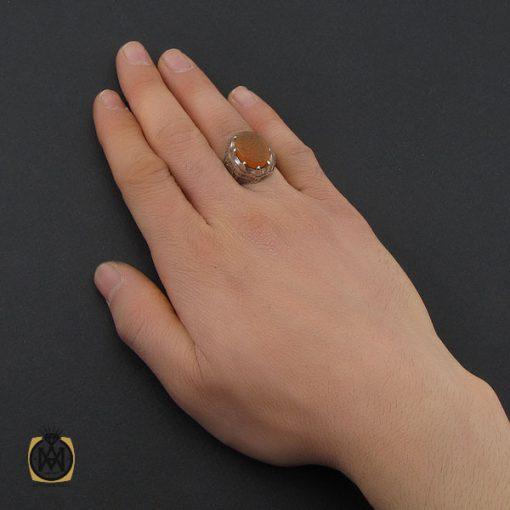 انگشتر عقیق یمن با حکاکی شرف الشمس و وما توفیقی الا بالله مردانه - کد 10739 - 5 62 510x510