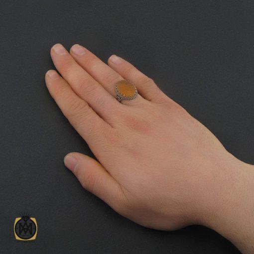 انگشتر عقیق یمن با حکاکی شرف الشمس و یا امیرالمومنین حیدر مدد مردانه - کد 10744 - 5 67 510x510