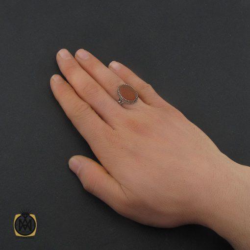 انگشتر عقیق یمن با حکاکی شرف الشمس و یا عقیله العرب مردانه - کد 10745 - 5 68 510x510