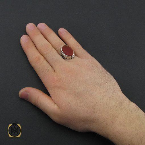 انگشتر عقیق قرمز مردانه – کد 10777 - 5 96 510x510