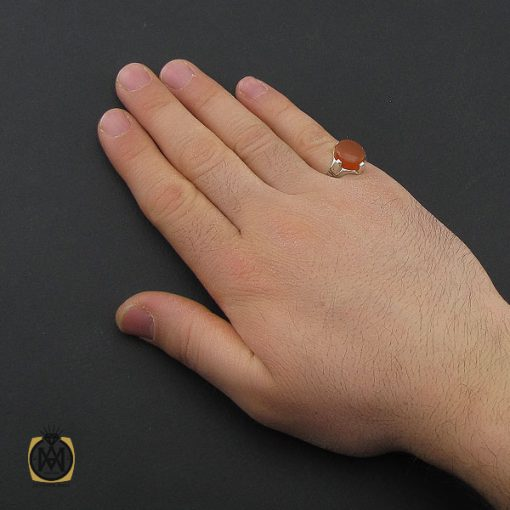 انگشتر عقیق یمن با حکاکی شرف الشمس مردانه – کد 10779 - 5 98 510x510