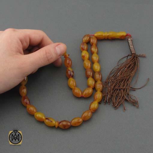 تسبیح کهربا پودری ۳۳ دانه خوش دست – کد ۴۳۷۲
