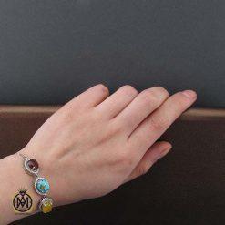 دستبند عقیق یمن شرف الشمس زمرد