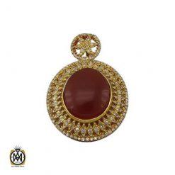 مدال عقیق یمن الماس زنانه